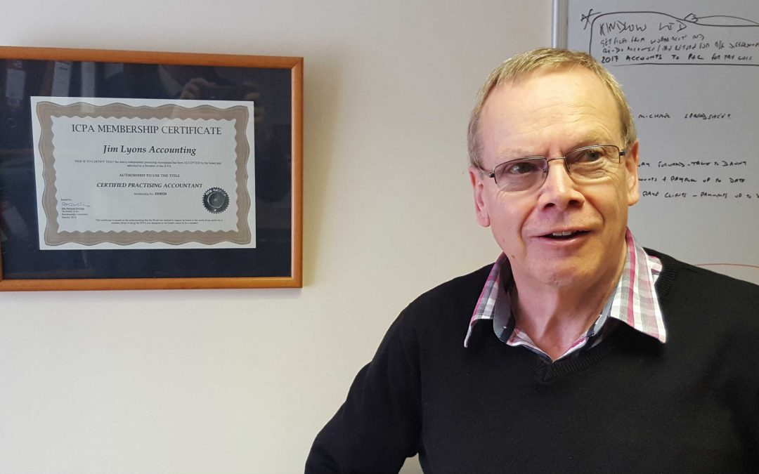 Jim Lyons Keighley Accountant Certificate